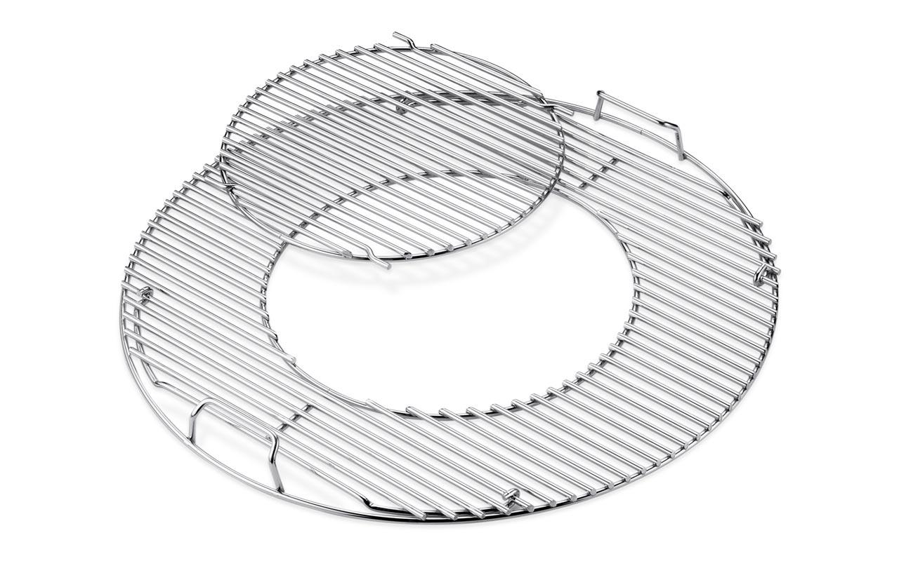 Weber Grillrost-Einsatz - Gourmet BBQ System - Edelstahl, für Holzkohlegrills mit 57 cm  Art.-Nr. 8843