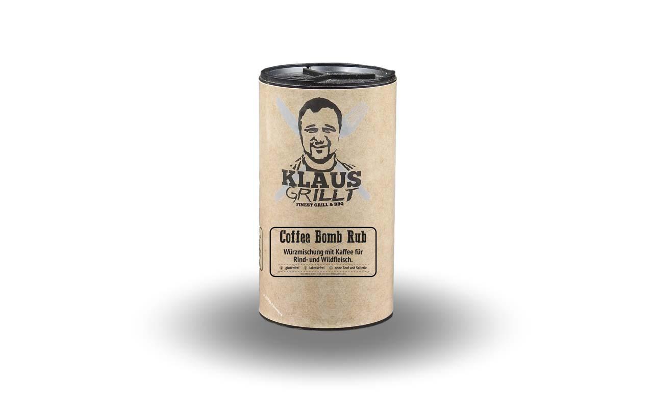 Klaus Grillt - Coffee Bomb Rub 120g Streuer