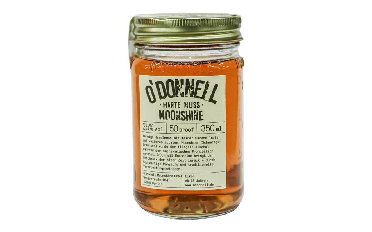 O'DONNELL MOONSHINE Harte Nuss (25% vol.) 350 ml