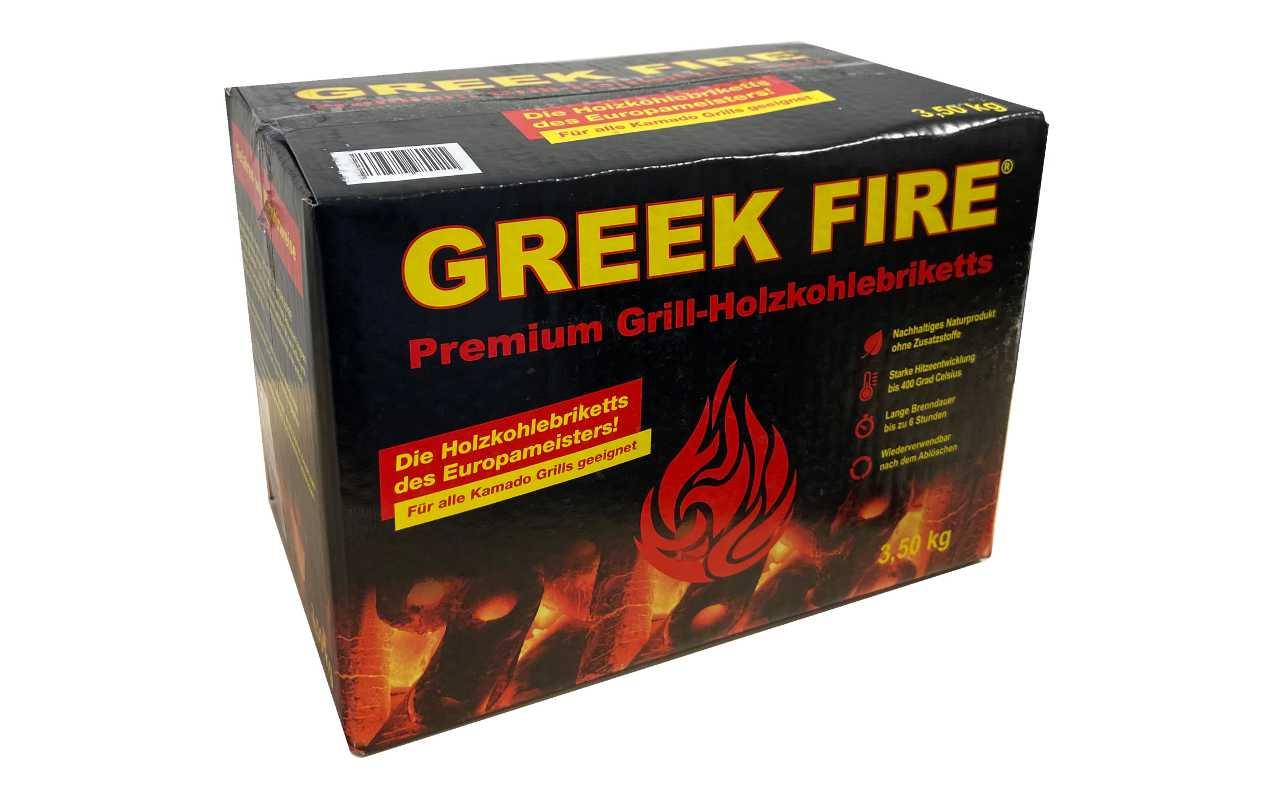 Greek Fire - Premium Grill-Holzkohlebriketts - 3,5kg Karton