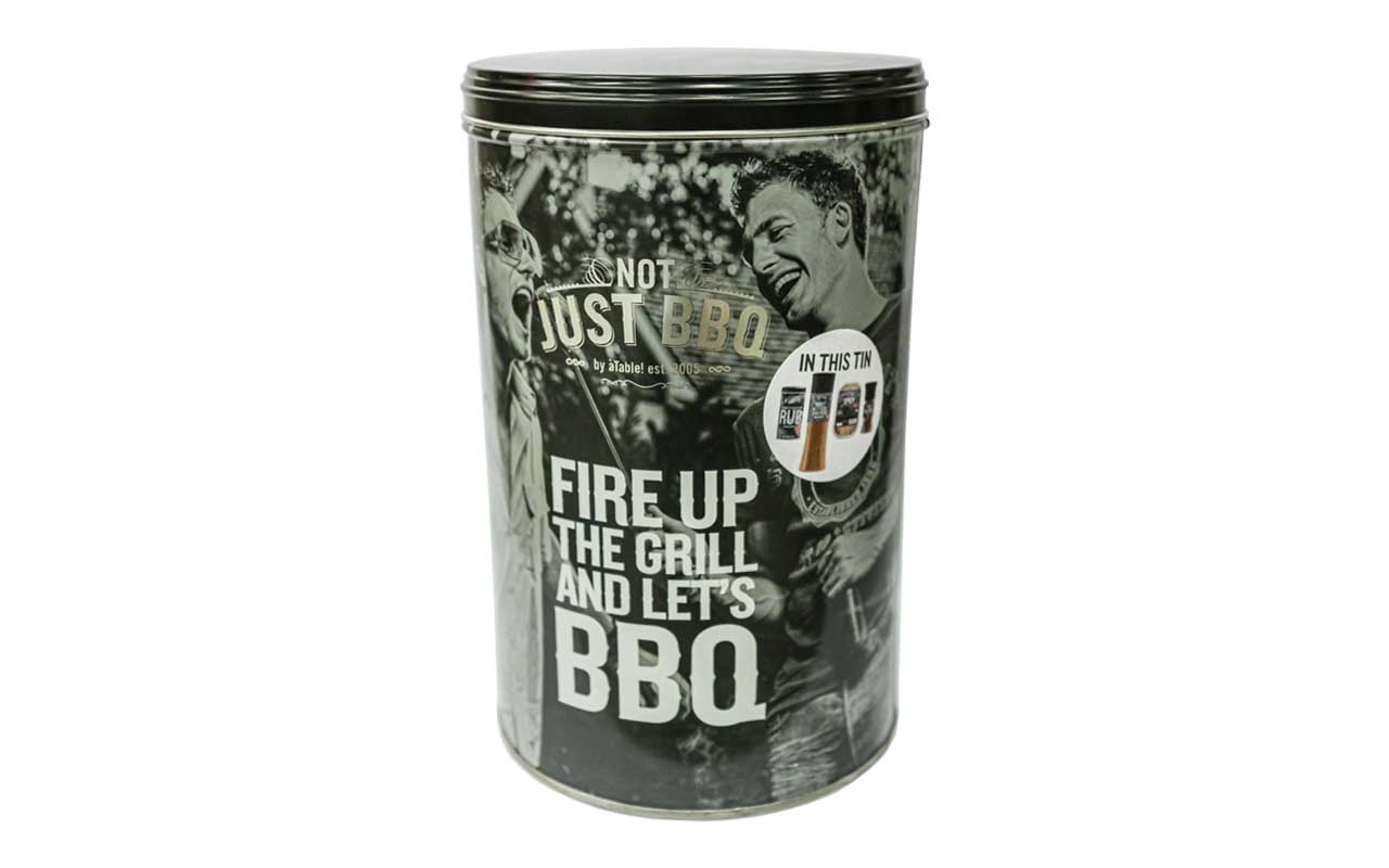 Not Just BBQ - Fire Up The Grill Tin