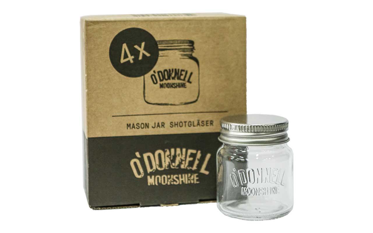 O'DONNELL MOONSHINE 4er Set Shotgläser, 5cl