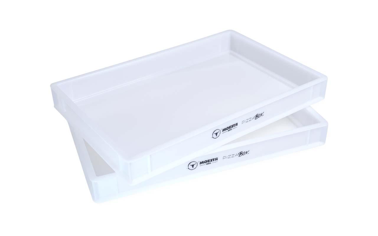 Moesta - PizzaBox - Gärbox, 60 x 40 x 7 cm, aus lebensmittelechtem Kunststoff für Pizza Teiglinge