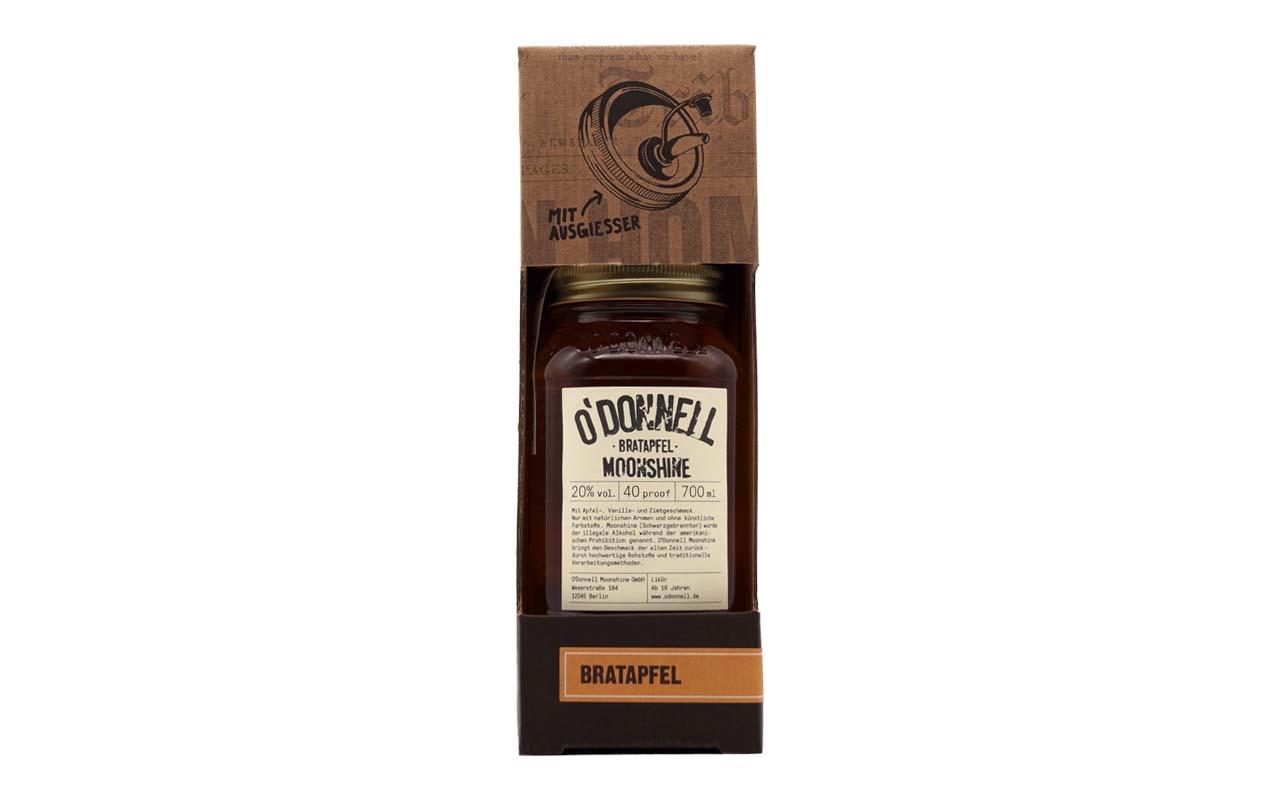 O'DONNELL MOONSHINE Bratapfel (20% vol.) 700 ml  (mit Ausgiesser)