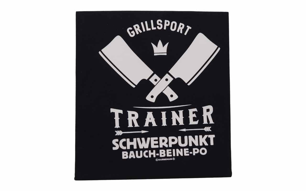 Rahmenlos - T-Shirt - Grillsport - Trainer - Schwerpunkt Bauch Beine Po