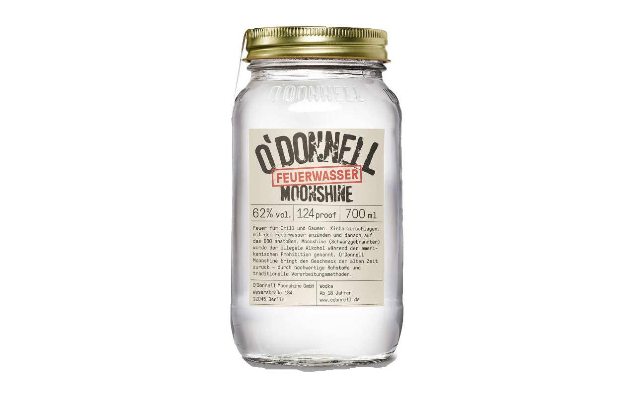 O'DONNELL MOONSHINE Feuerwassere (62% vol.) 700 ml - limitierten Grill-Edition