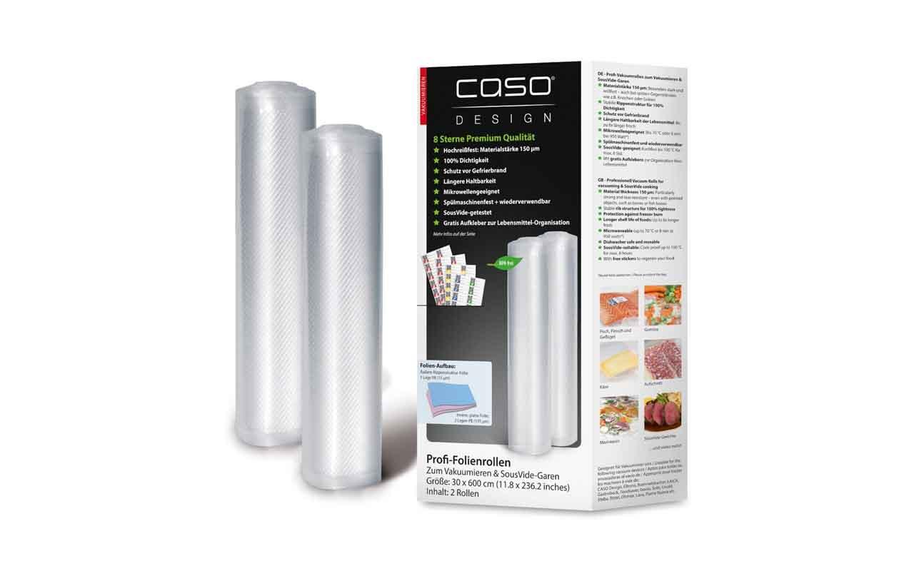 CASO Folienrollen 30x600 cm, 2 Stück