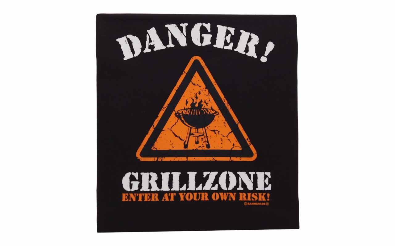Rahmenlos - Grillschürze Danger Grillzone