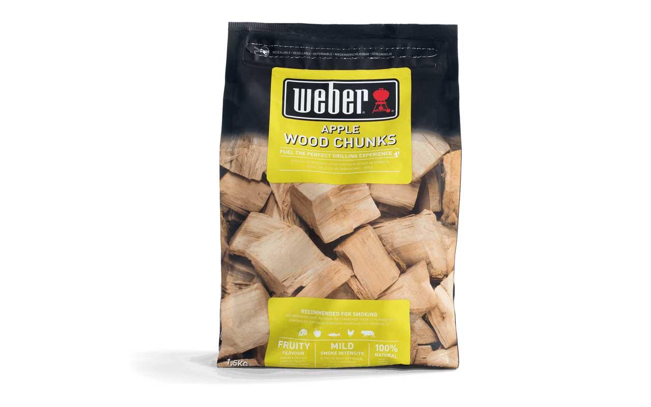 Weber Wood Chunks - Fire spice Holzstücke aus Apfelholz - 1,5 kg  Art.-Nr.: 17616