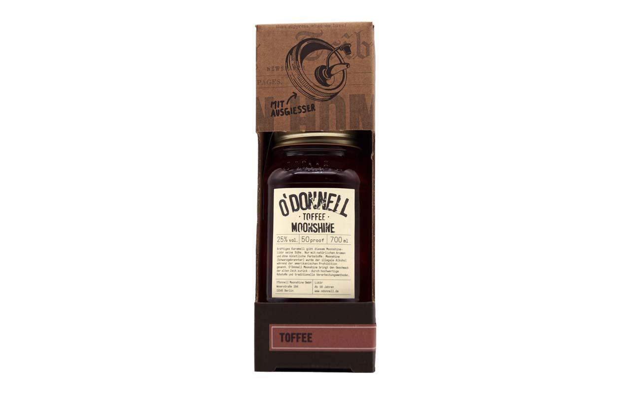 O'DONNELL MOONSHINE Toffee (25% vol.) 700 ml (mit Ausgiesser)