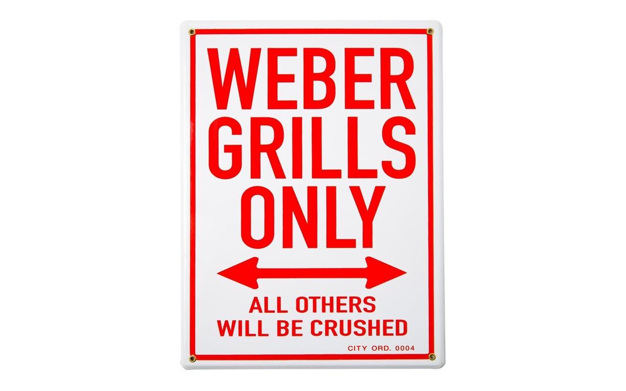"""Weber -  Emaille Schild """"Weber Grills only"""""""