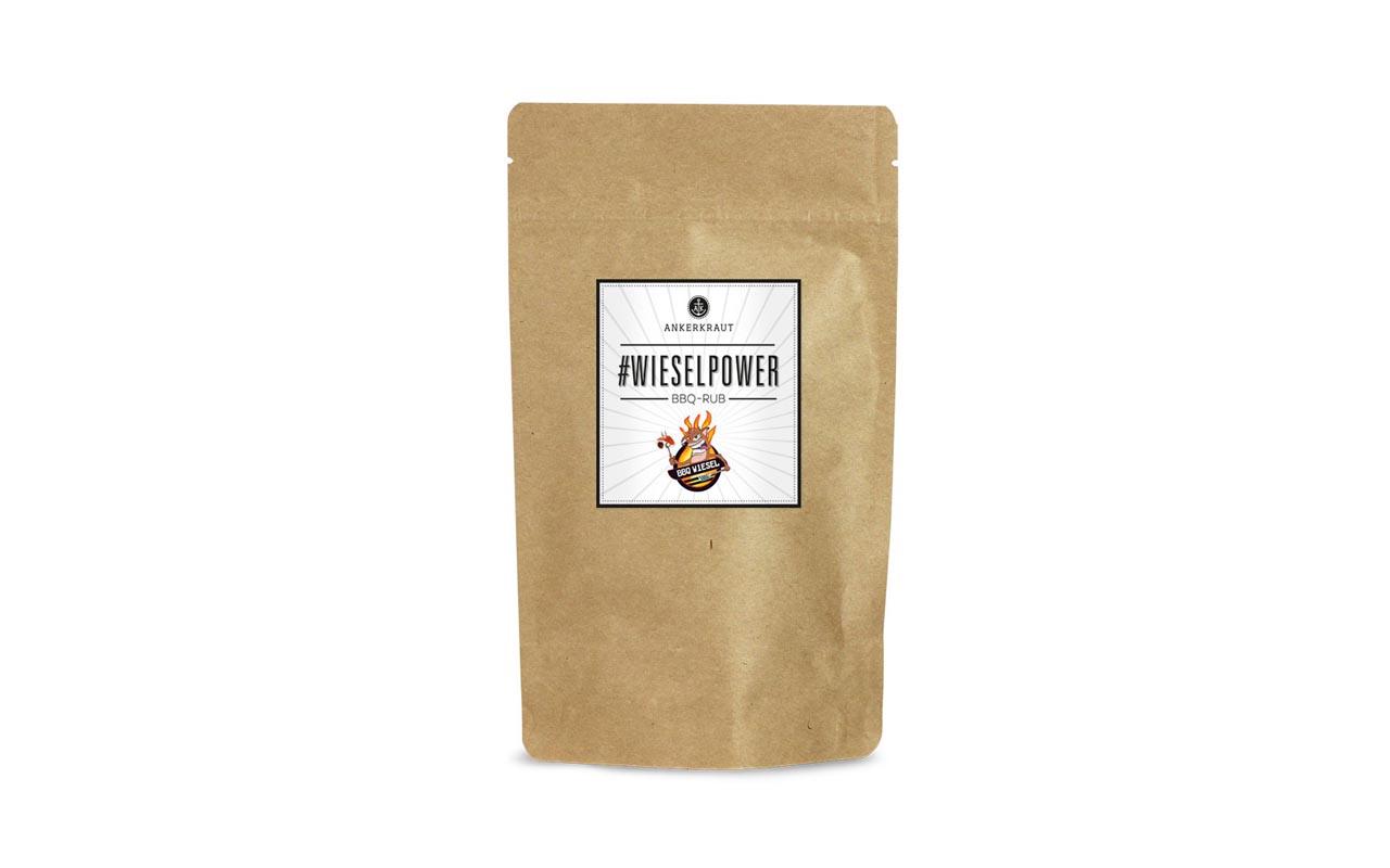 Ankerkraut - # Wieselpower BBQ Rub - BBQ Wiesel 250g Beutel