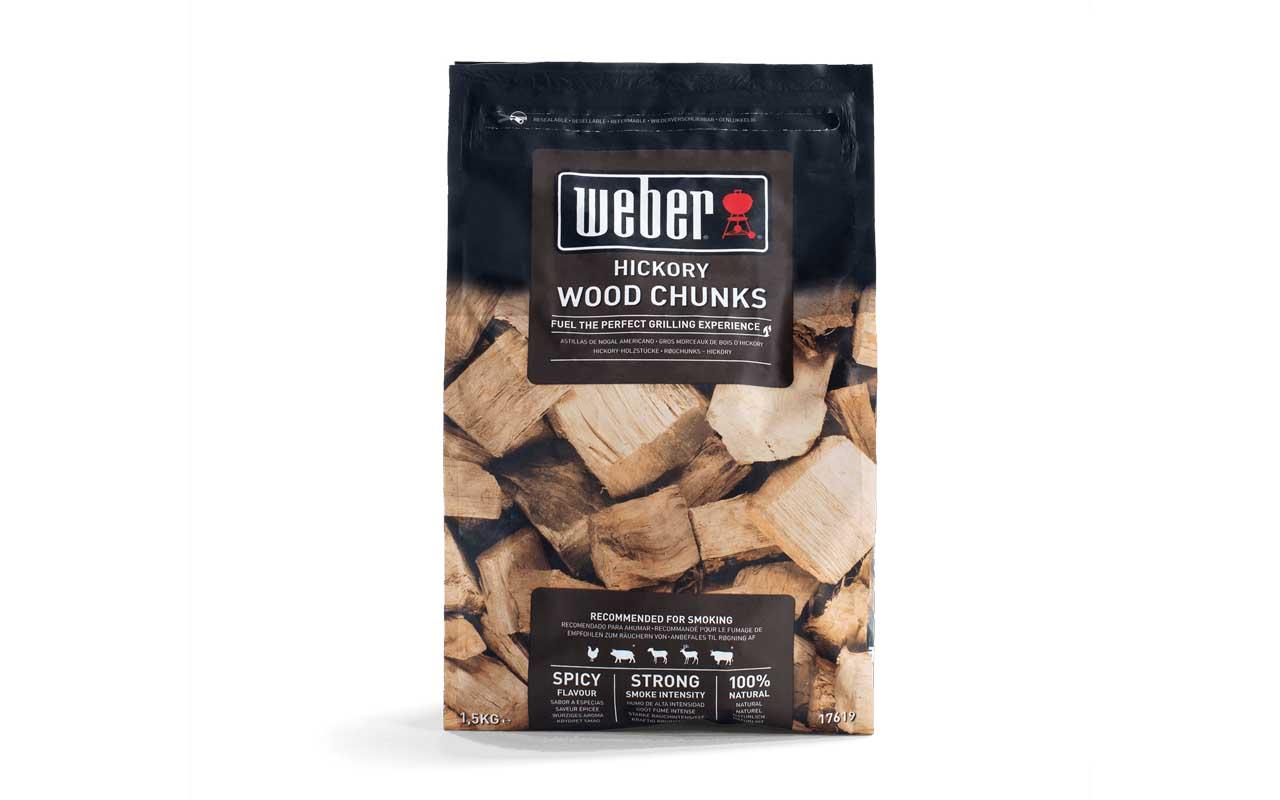 Weber Wood Chunks - Fire spice Holzstücke aus Hickoryholz - 1,5 kg Art.-Nr.: 17619